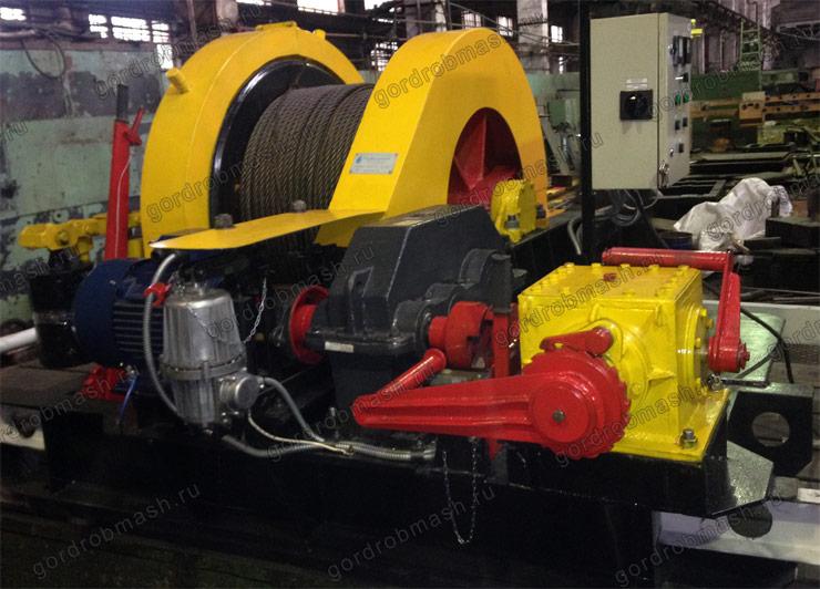 Лебедка проходческая с электрическим и ручным приводами ЛПЭР 50-500У