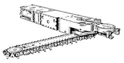 Запчасти к врубовой машине «УРАЛ-33»