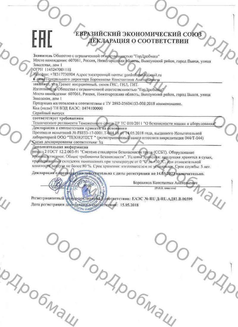 Декларация ГИС, ГИТ, ГИЛ